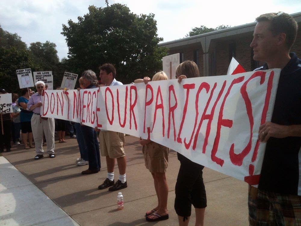Protesting parish mergers