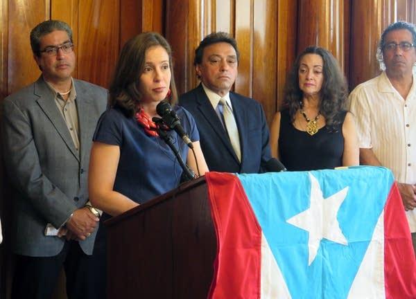 State Sen. Melisa Franzen of Edina talks about need for aid to Puerto Rico.