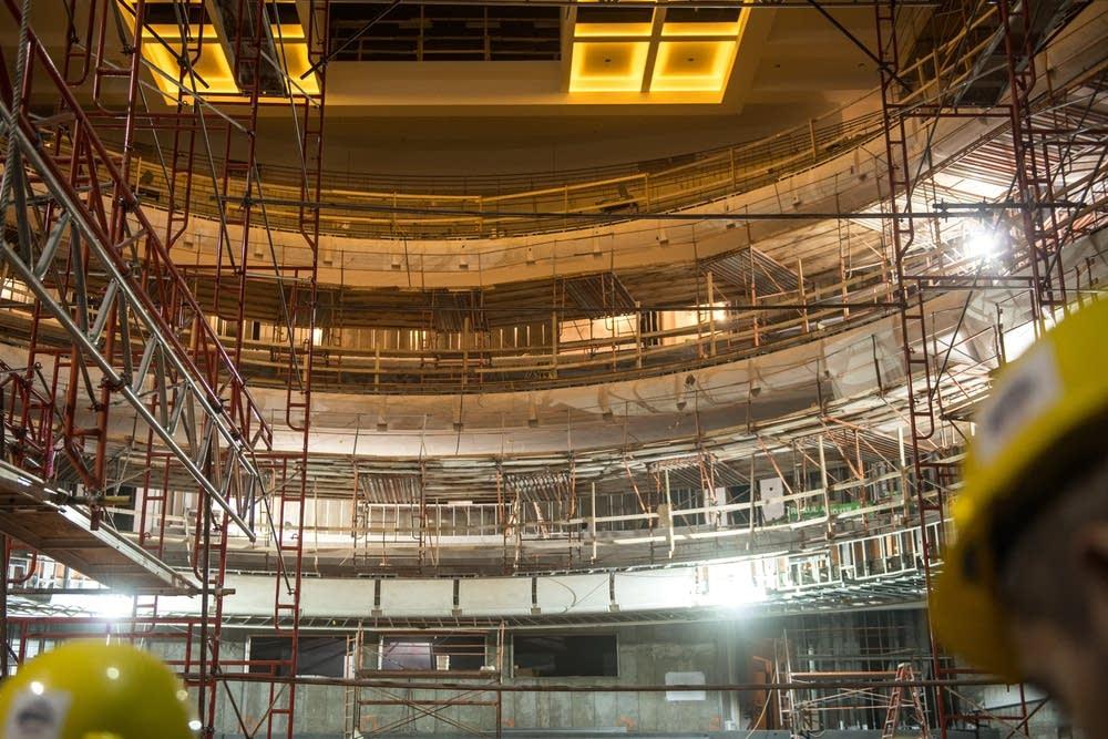 Northrop Auditorium under construction