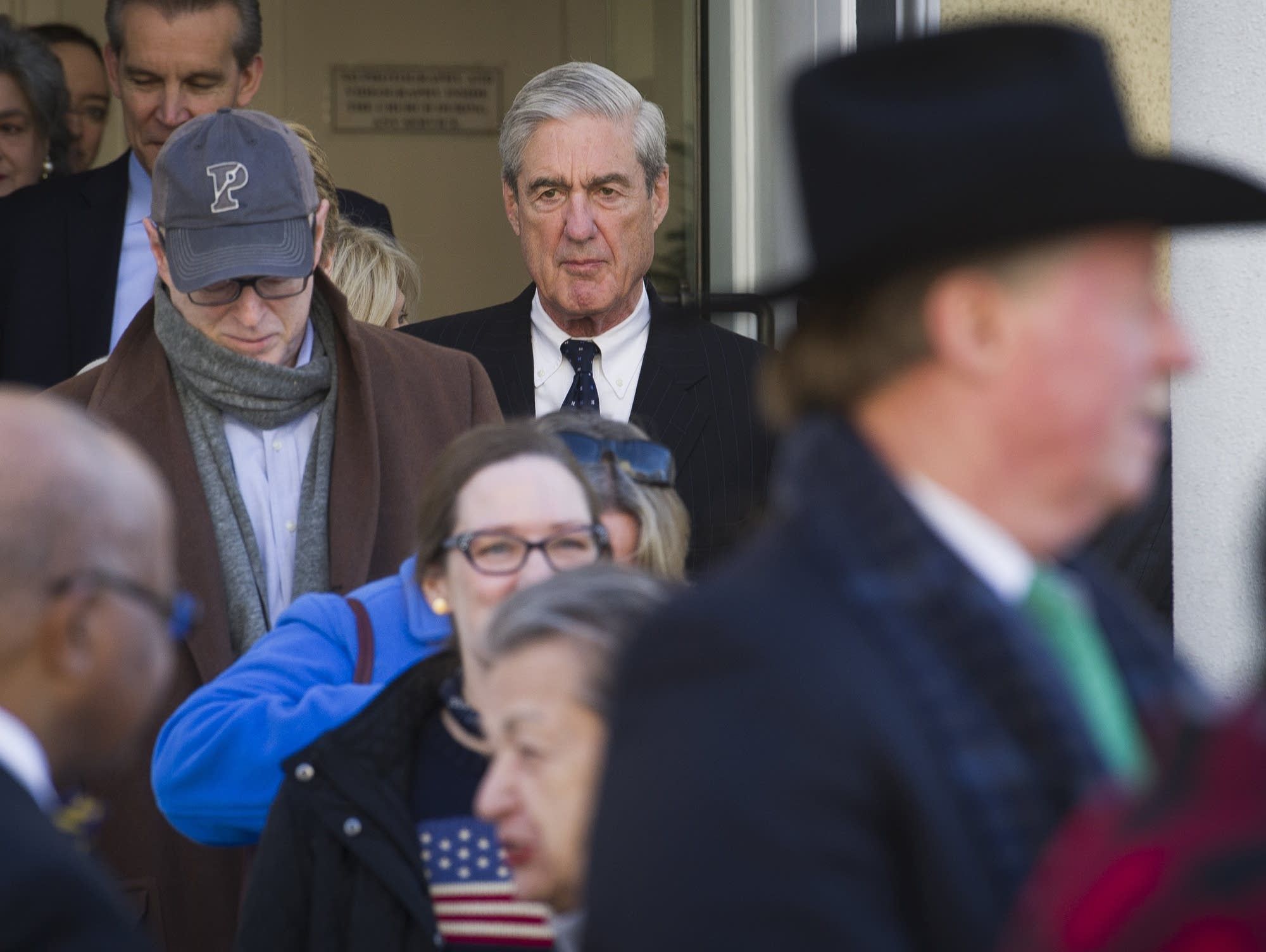 Special Counsel Robert Mueller exits St. John's Episcopal Church