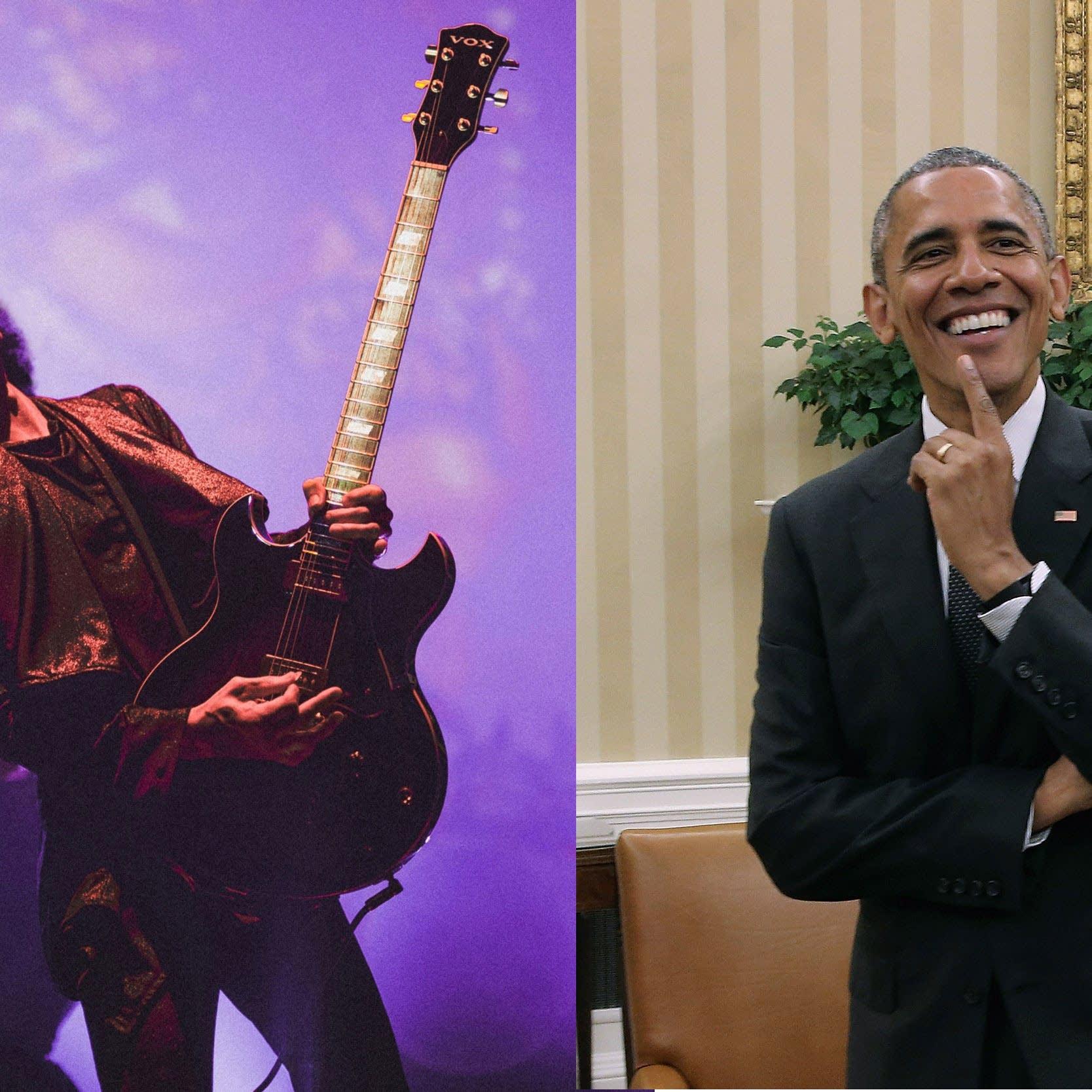 Prince and Barack Obama