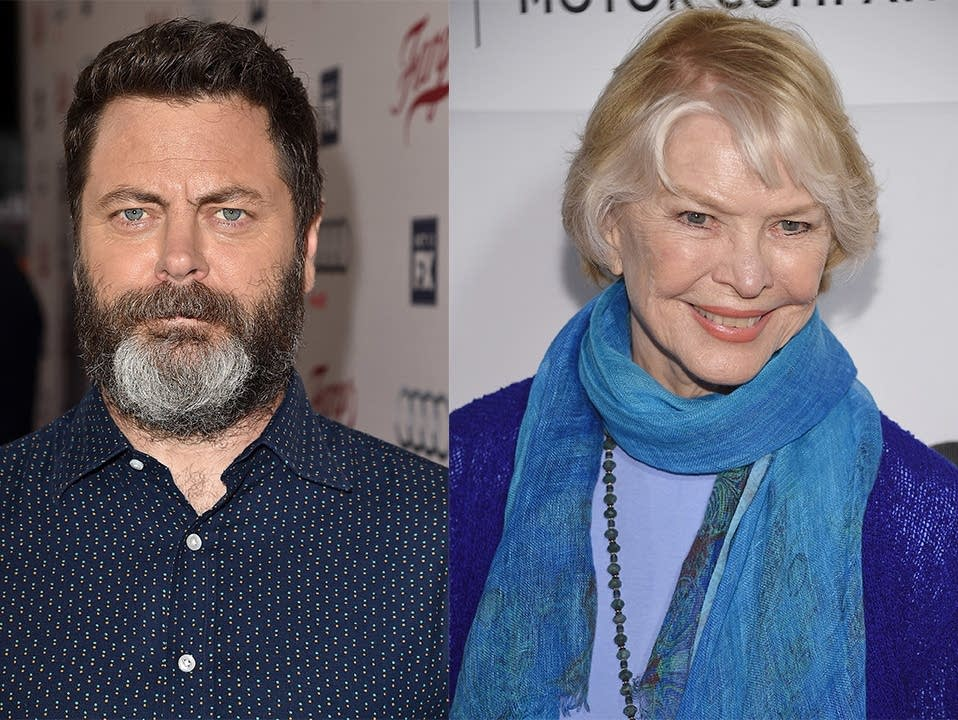 Nick Offerman and Ellen Burstyn