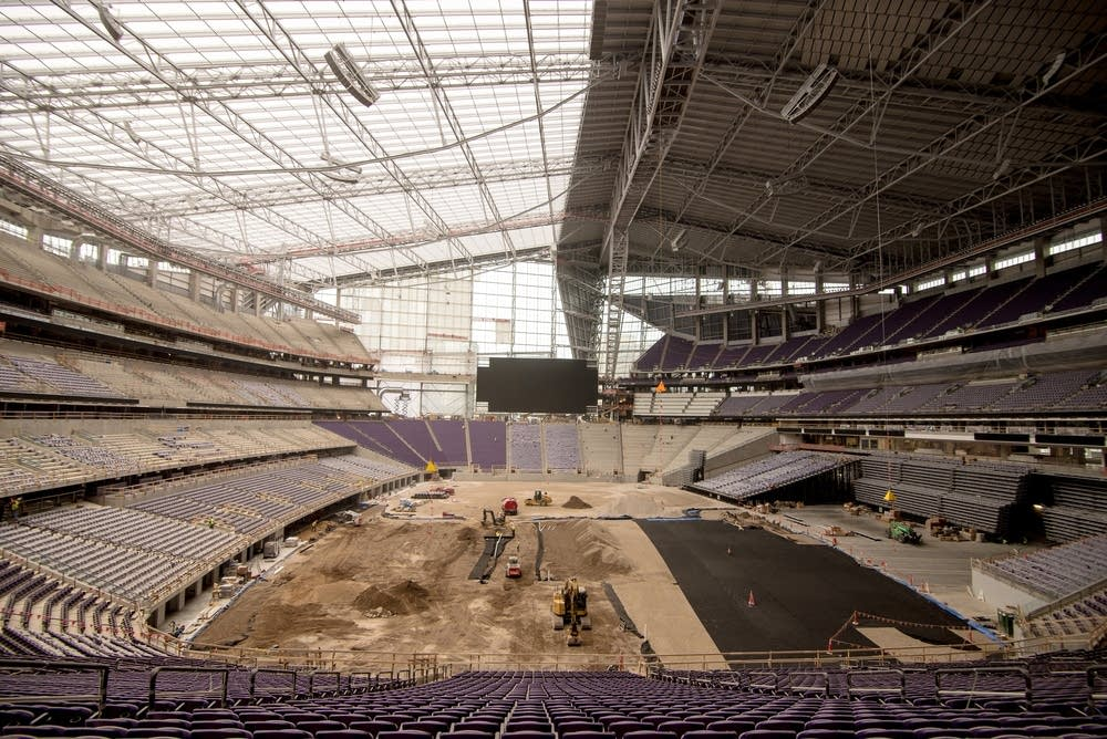 The stadium will hold 73,000 fans.