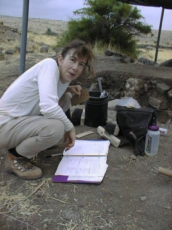 Nanette Goldman on an archaeological dig