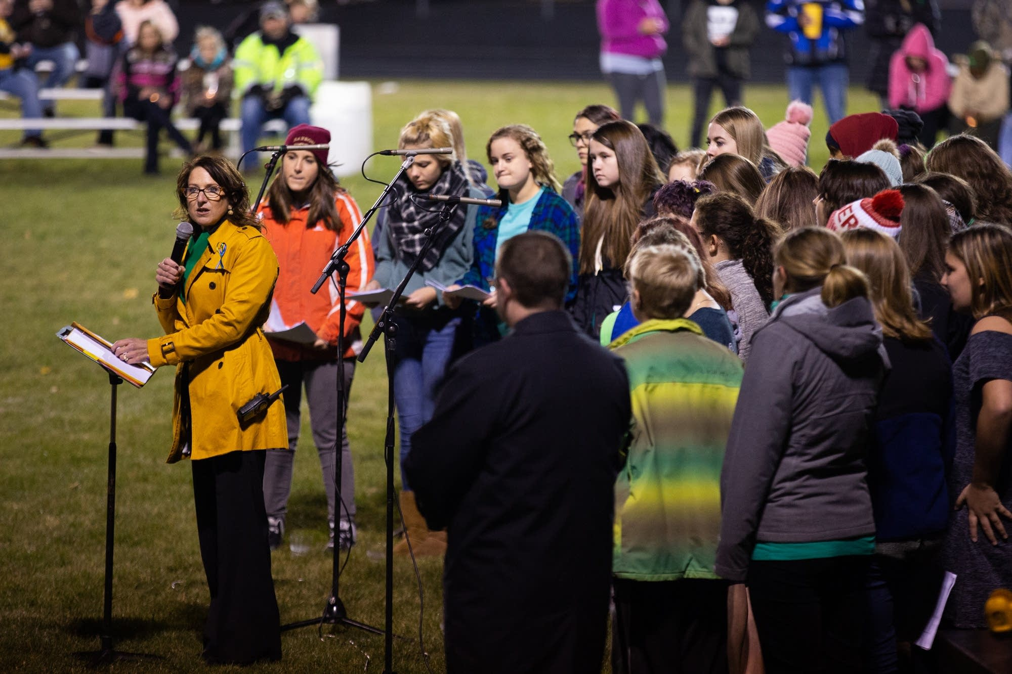 Barron Area School District Administrator Diane Tremblay speaks.
