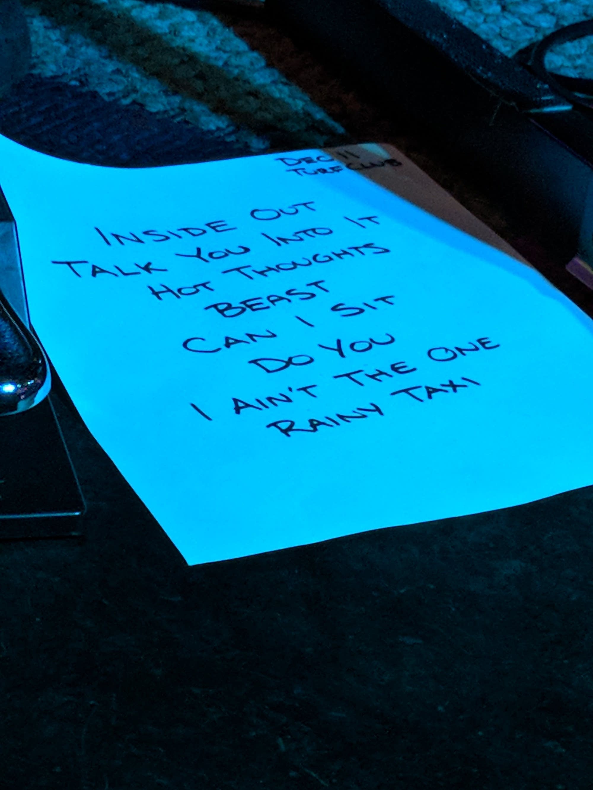 Spoon MicroShow set list