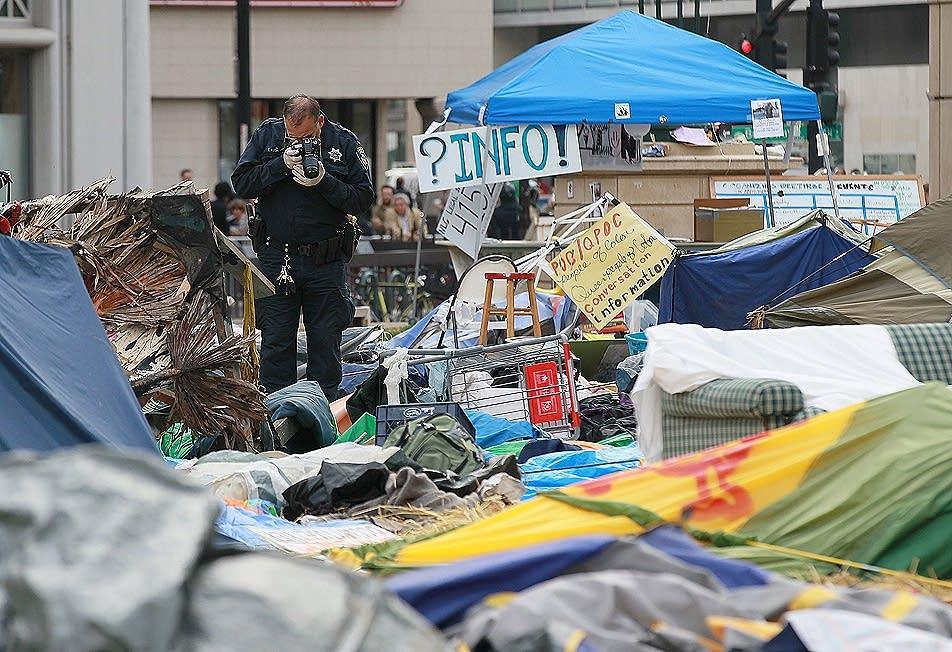 The Oakland protest encampment