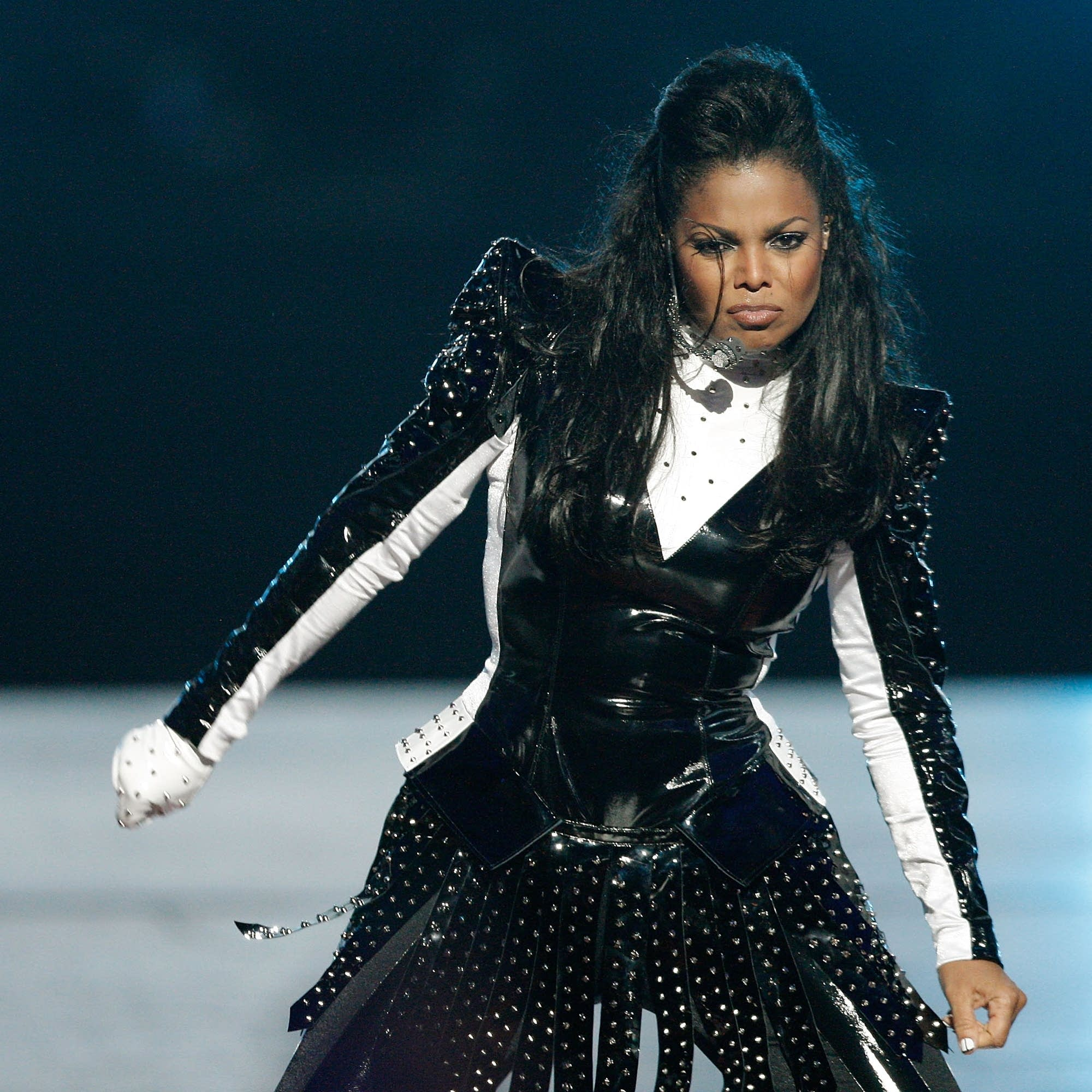 Janet Jackson performs at the MTV VMAs in 2009.