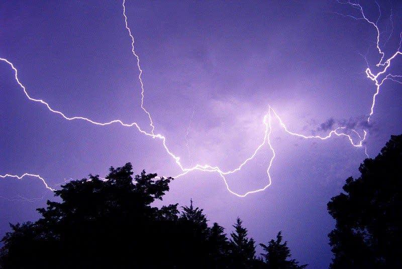 Lightning image via NOAA