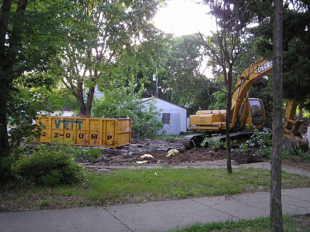 Foreclosure demolition