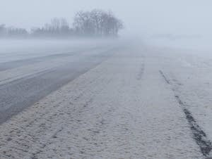 High winds and blowing snow make travel difficult in northwest Minnesota.