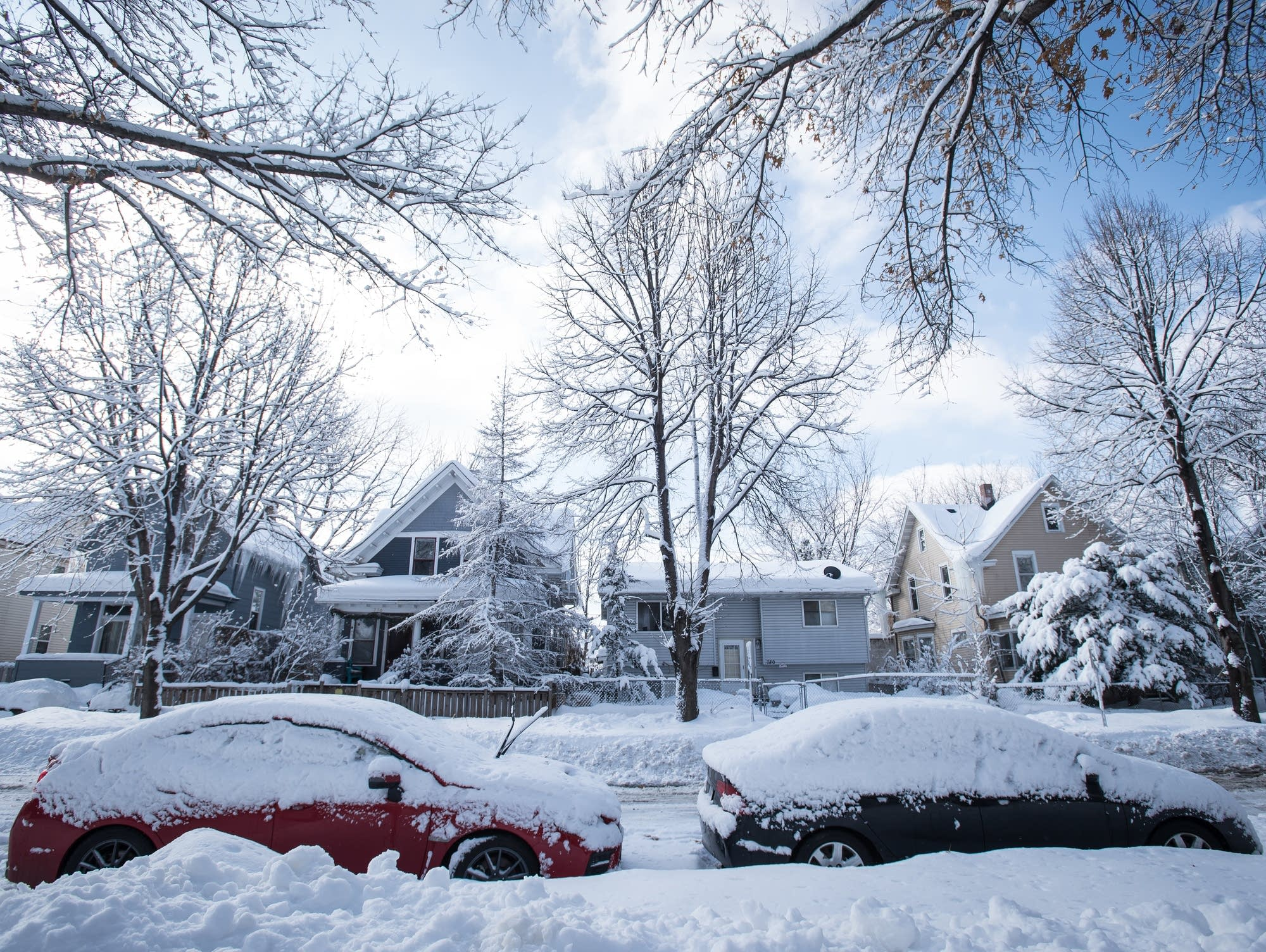 A winter scene in the Frogtown neighborhood of St. Paul