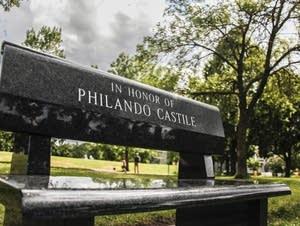 A bench in memory of Philando Castile