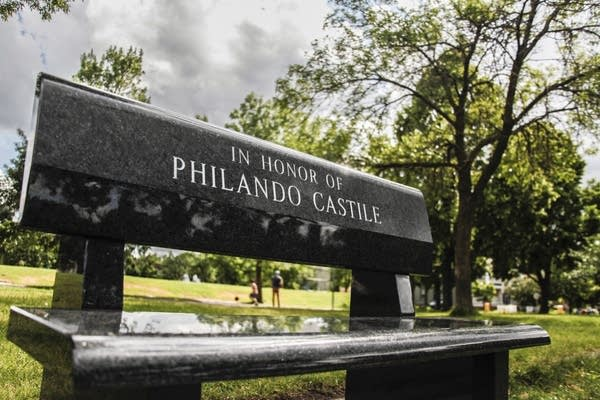 A bench in memory of Philando Castile