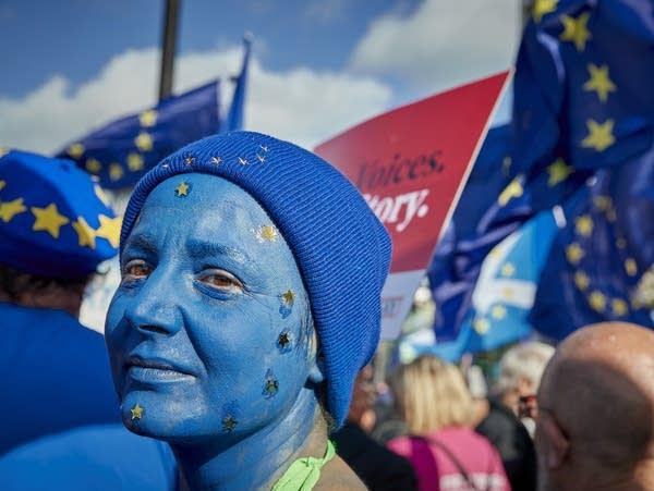 Protesters rally against Brexit