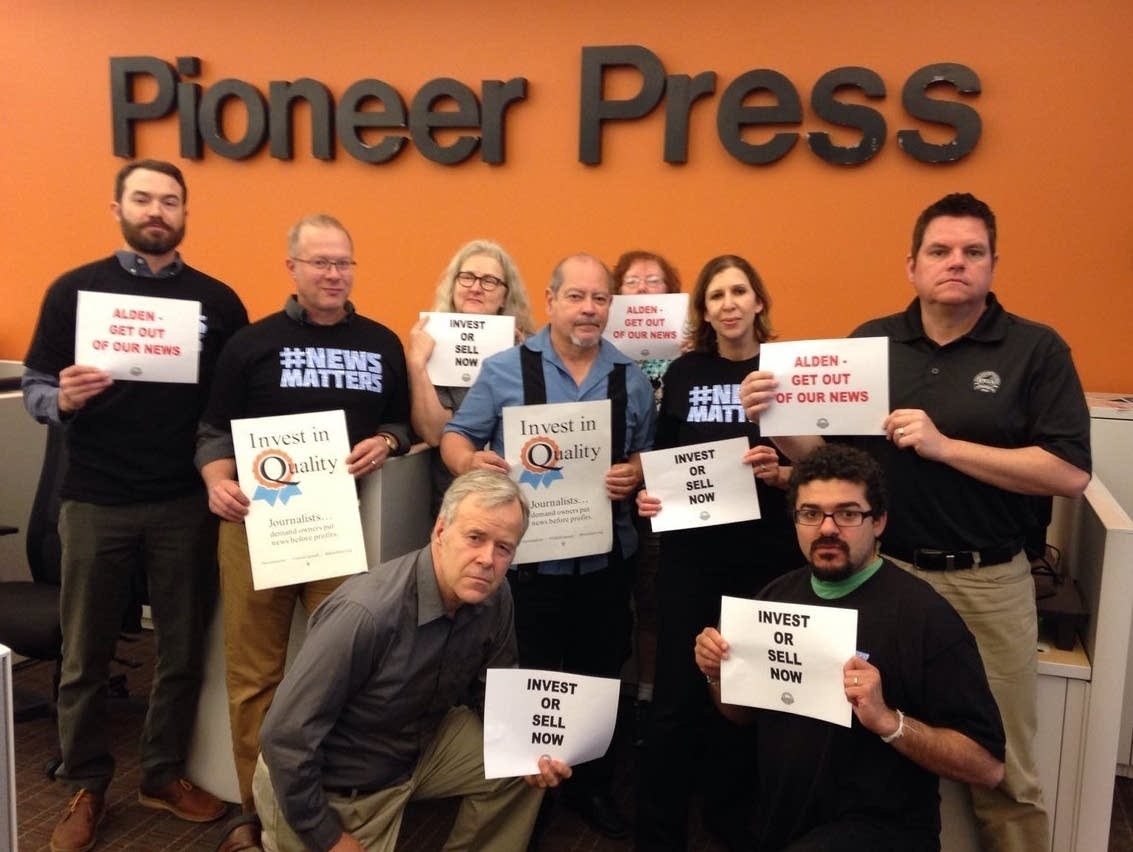 Pioneer Press union members tweeted this photo on May 8, 2018.