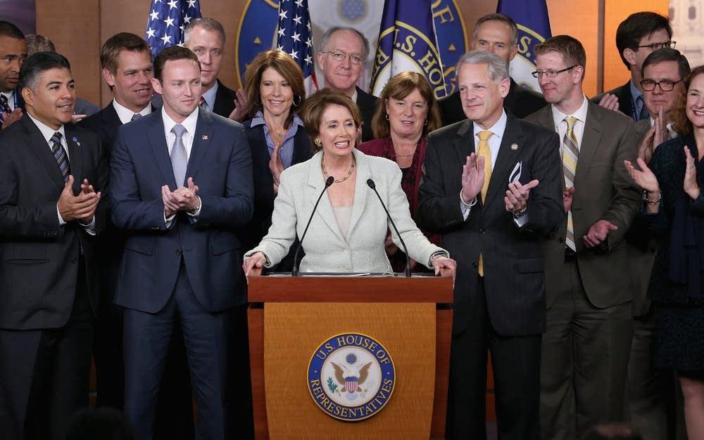 Democratic House Leader Nancy Pelosi Holds News Co