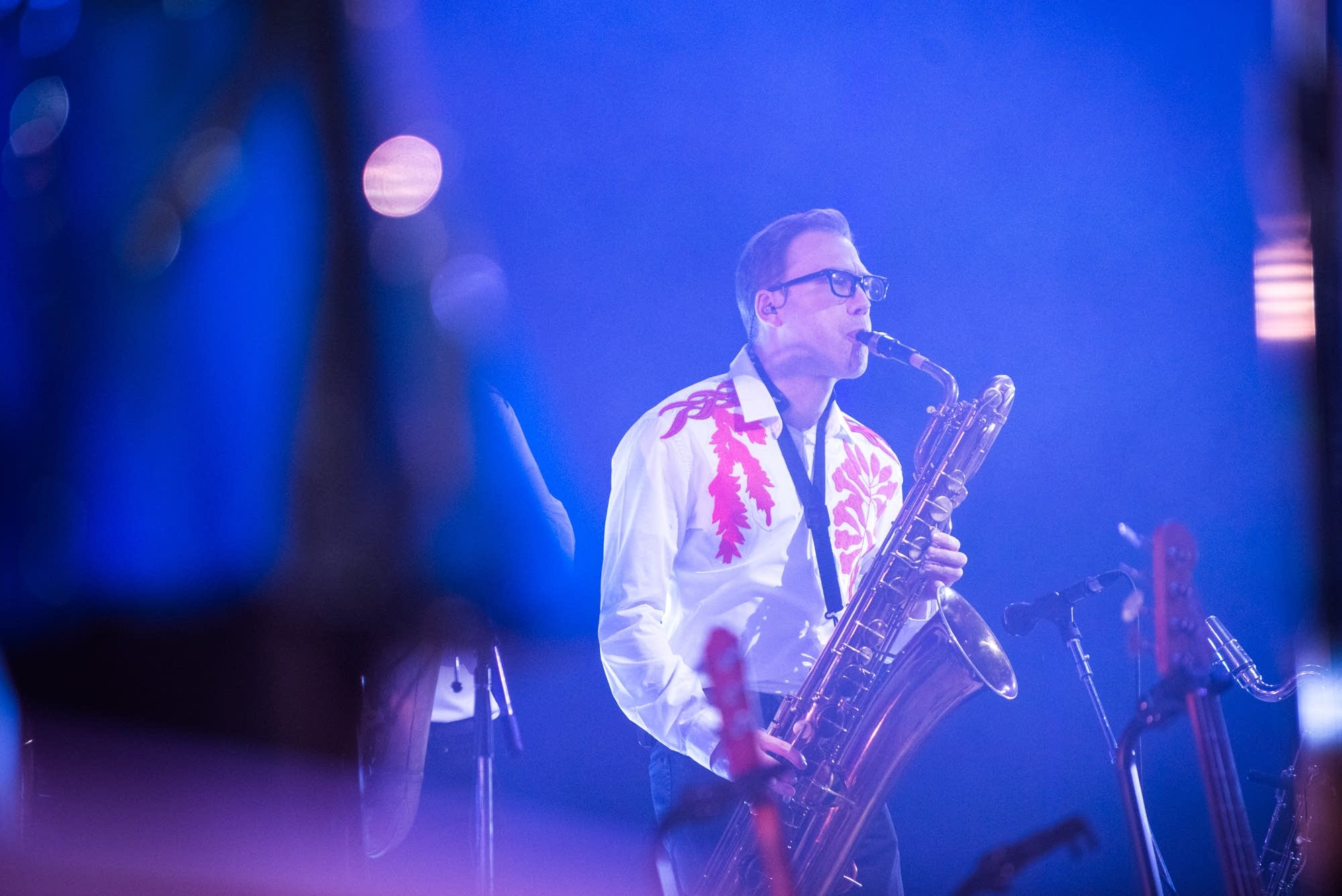 Arcade Fire saxophone