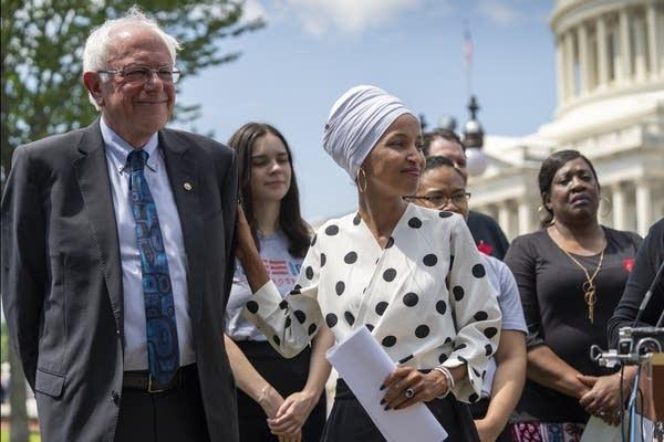 Bernie Sanders, Ilhan Omar