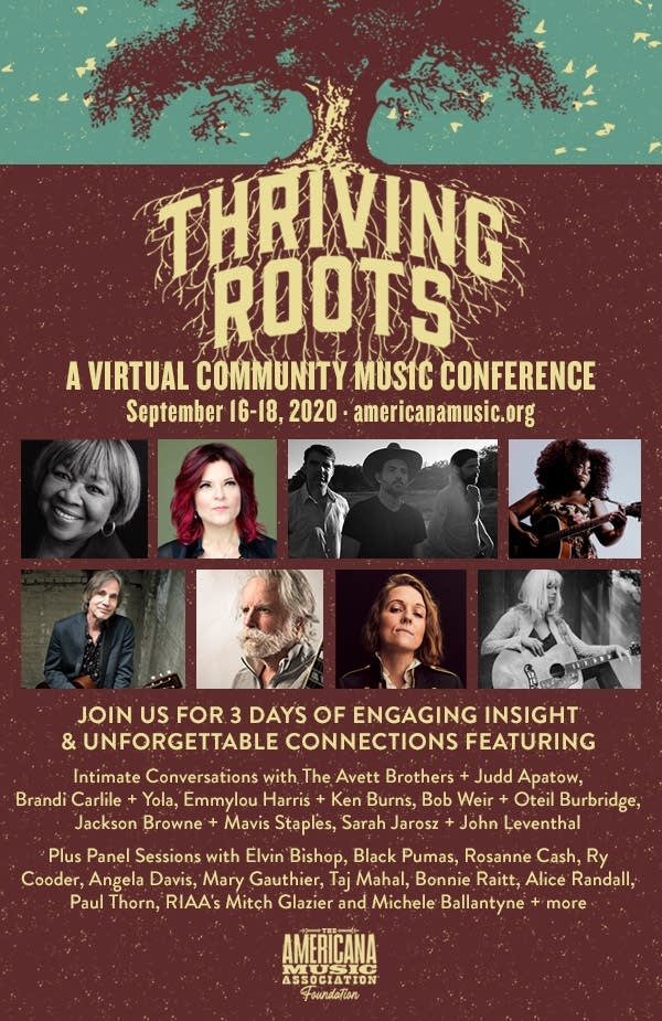 Thriving Roots A Virtual Community Music Conference Poster