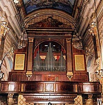 1855 Gandolfo organ at the Collegiale Sant' Ambrogio d'Alassio, Italy