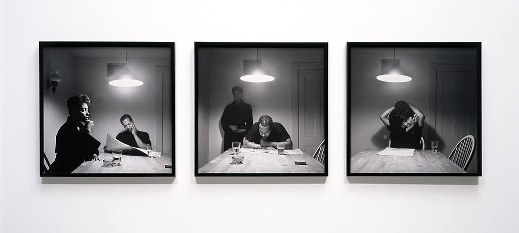 "Carrie Mae Weems' 1990 piece ""Untitled"""