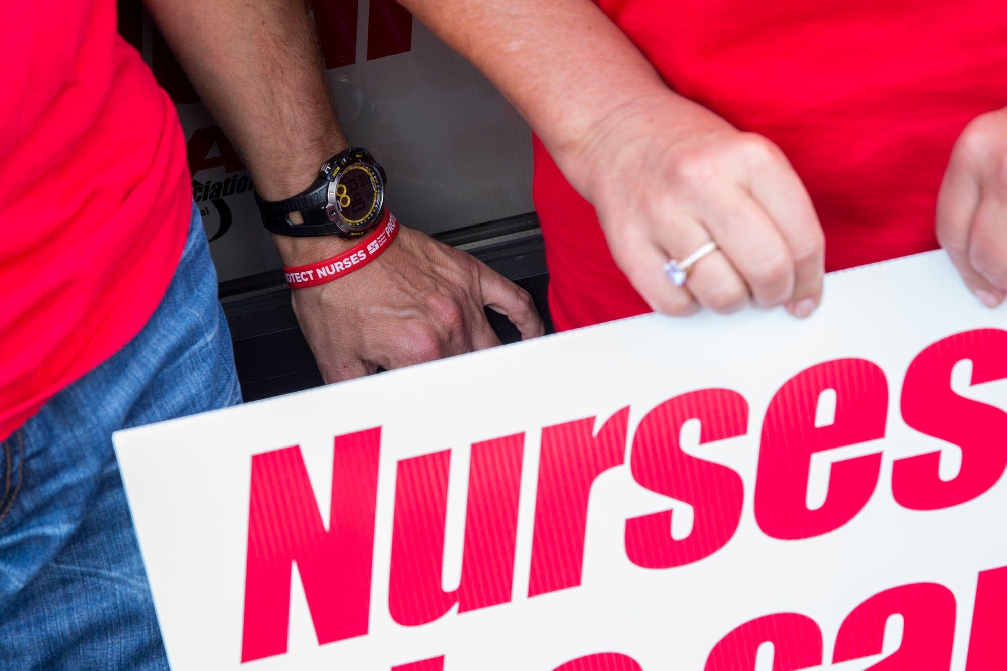 Nurses vote in St. Paul.