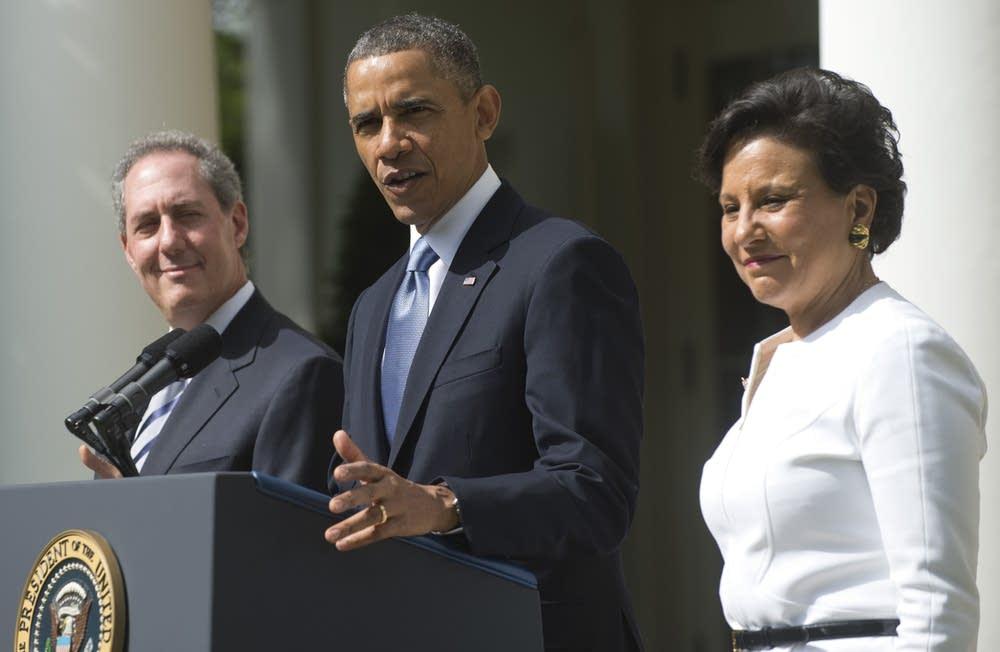 Obama, Pritzker, Froman
