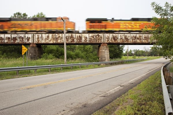 A railroad bridge in Wilkin County