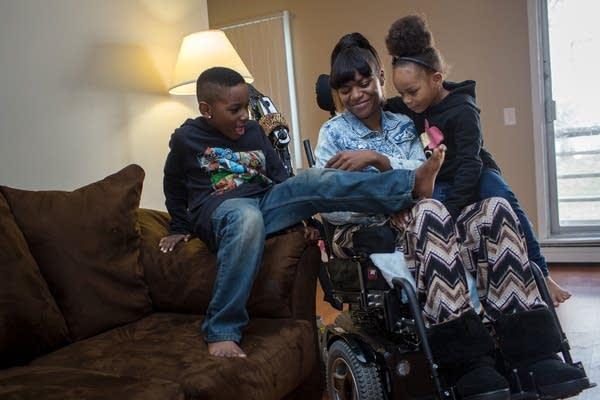 Tanesha Johnson and her children