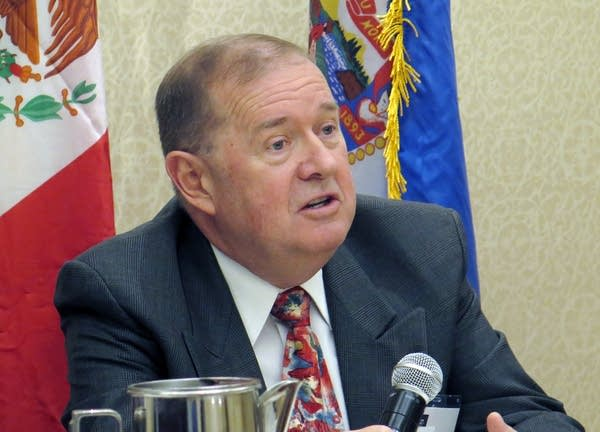 Canadian consul Paul Connors spoke at a panel on NAFTA.