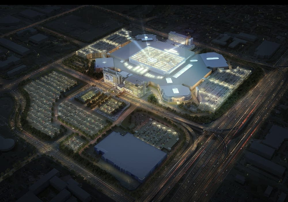 Aerial view of MOA expansion