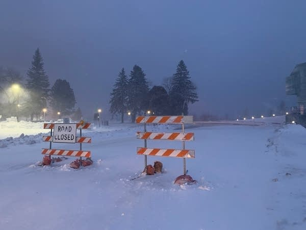 Harbor Drive is closed near the Duluth Entertainment Convention Center