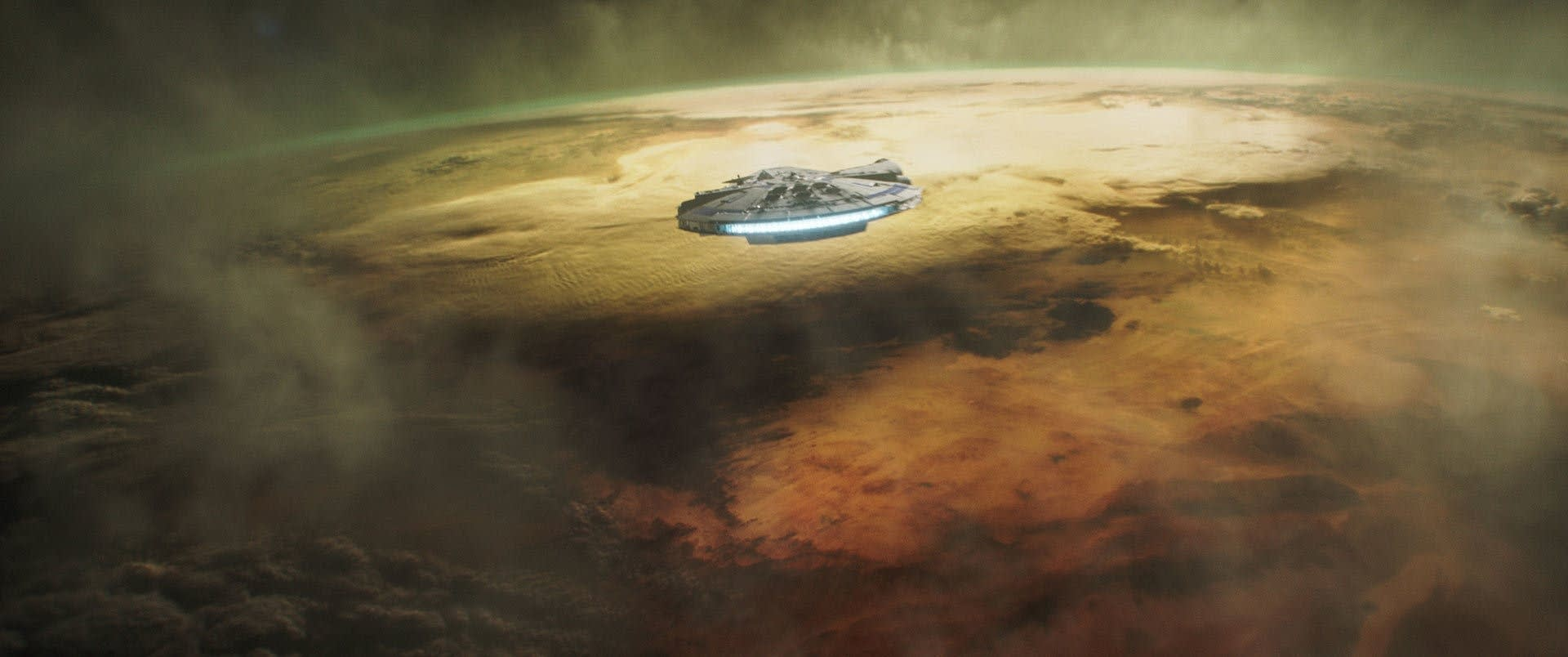 The Millennium Falcon in SOLO: A STAR WARS STORY.