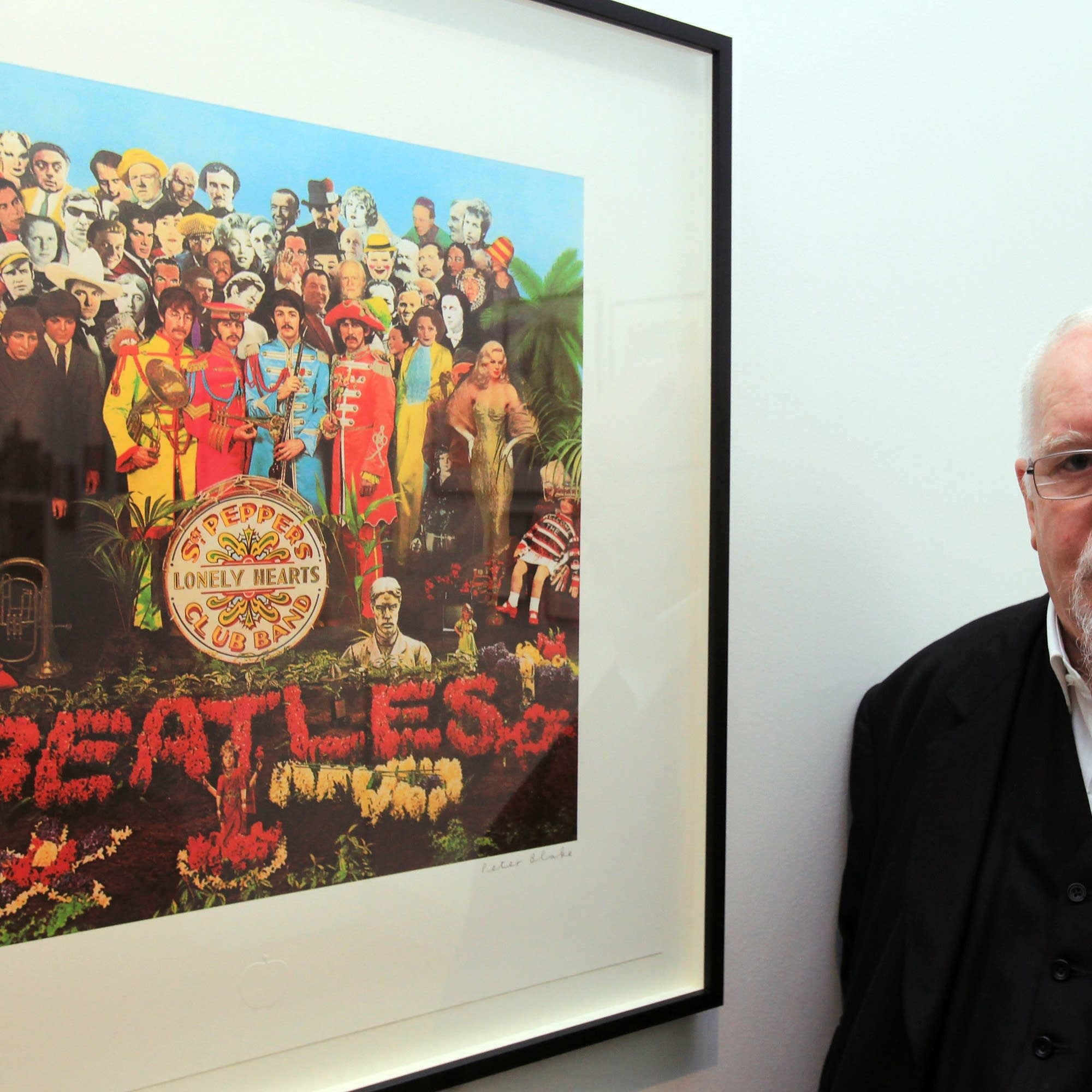 Pop artist Peter Blake and 'Sgt. Pepper' cover art