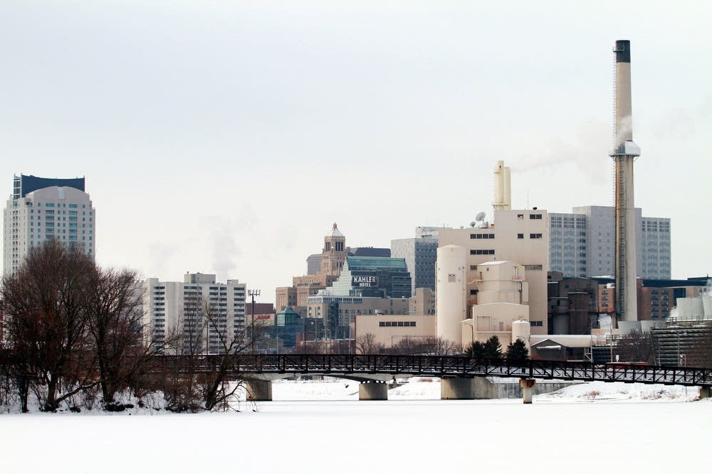 Rochester's skyline from Silver Lake Park
