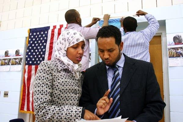 Nimco Ahmed and Abdirahman Mukhtar