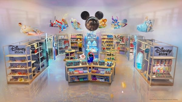 An artist's rendering of a new Target in-store Disney shop