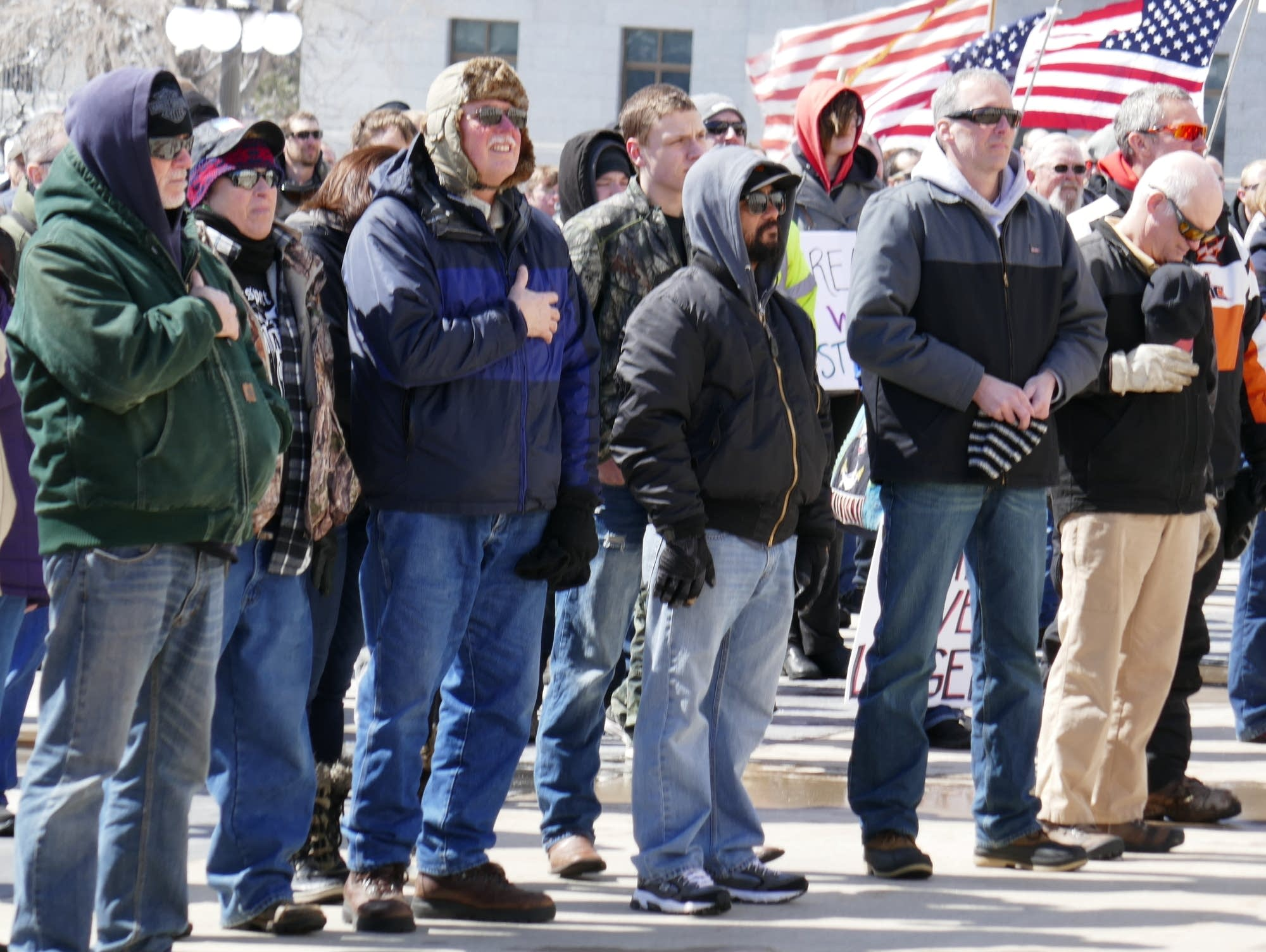 Gun rights protesters gather at the Minnesota Capitol