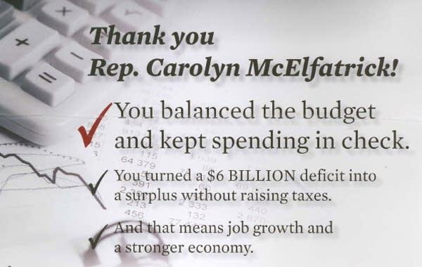 McElfatrick campaign literature