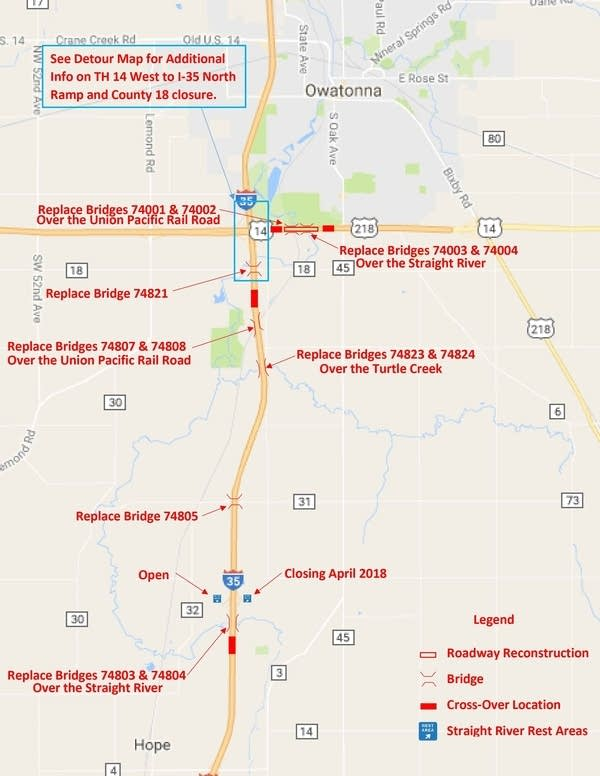 minnesota road construction map Road Tripper S Guide To 2018 Construction Season For Southeast minnesota road construction map