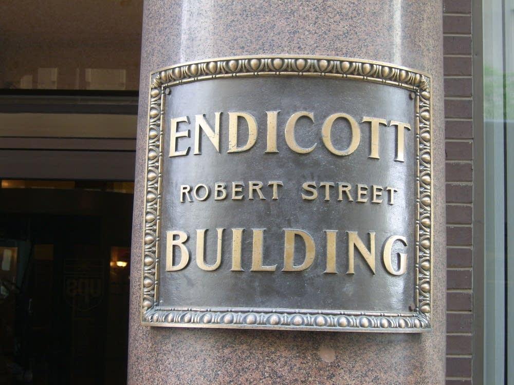 Endicott sign