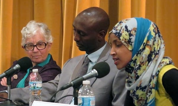 Phyllis Kahn, Mohamud Noor and Ilhan Omar