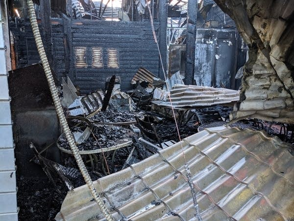 A fire destroyed the interior of Lola on the Lake.