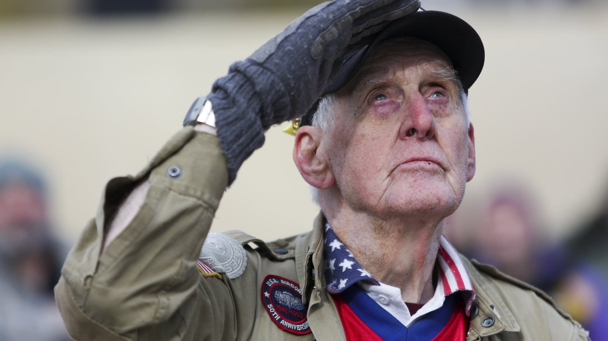 Veteran's Day ceremony at the Vietnam War Memorial