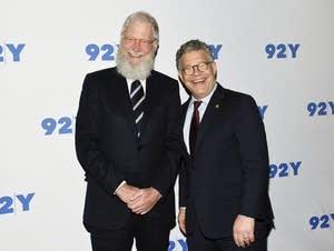 Sen. Al Franken, D-Minn., right, and former talk show host David Letterman