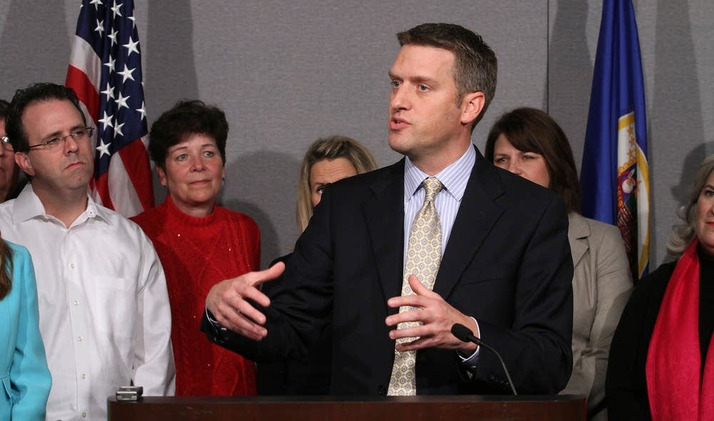 Kurt Daudt at post-election press conference