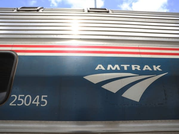 An Amtrak train is seen in May 2017