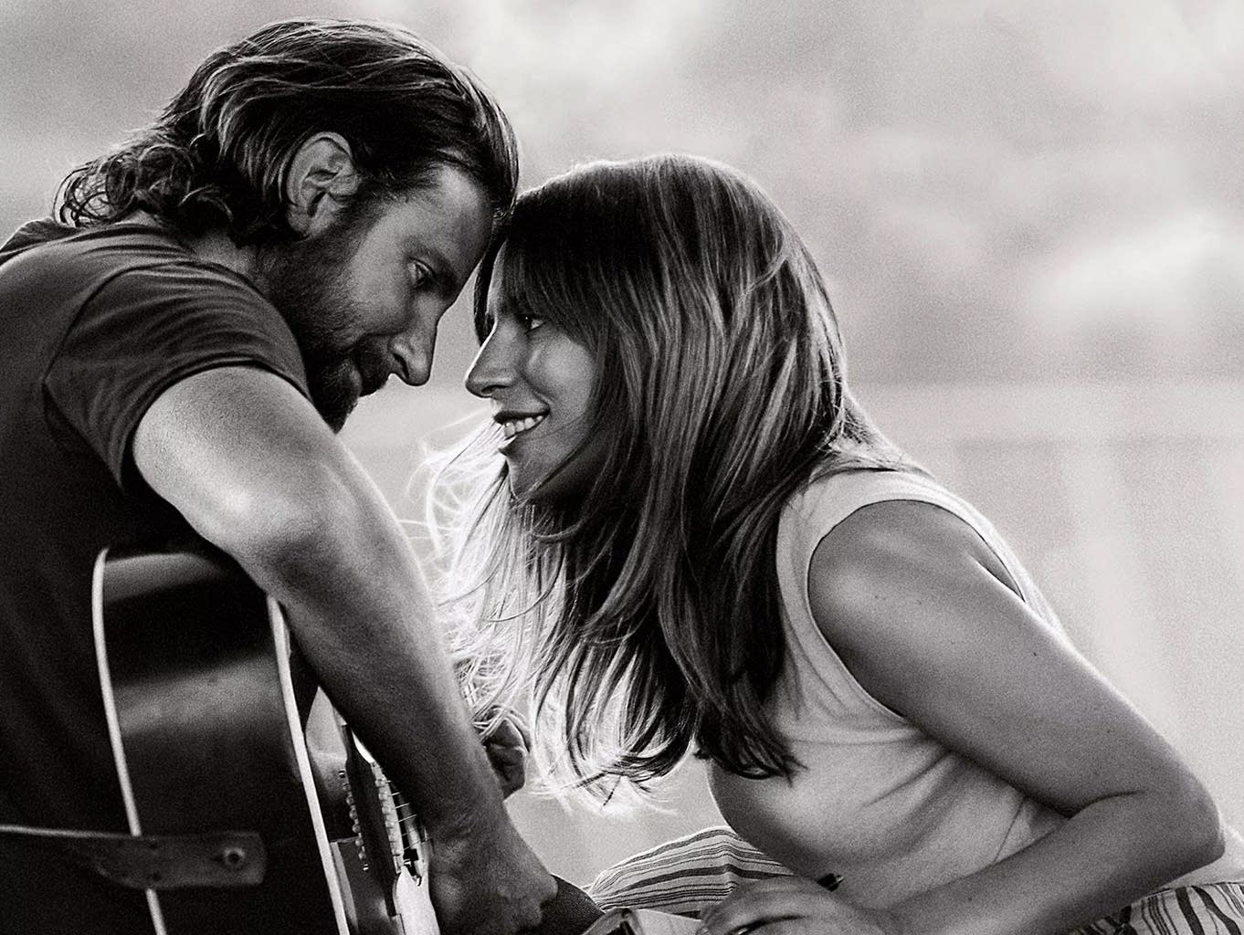 Bradley Cooper and Lady Gaga on the poster for 'A Star is Born.'