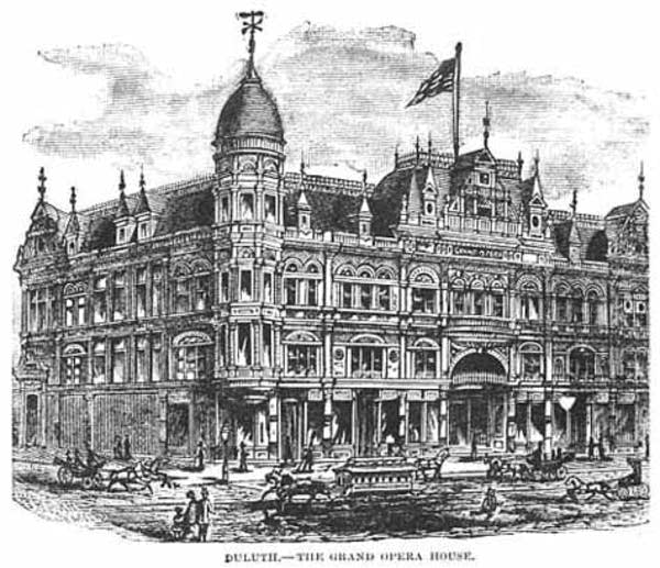 Grand Opera House in Duluth 1886
